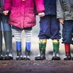 photo of children's feet